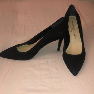 Black 2.5 inch Chinese Laundry Pumps Heels